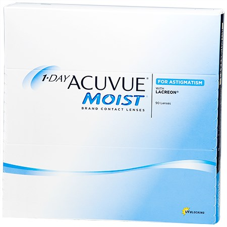 Acuvue 1-DAY ACUVUE MOIST for ASTIGMATISM 90 Pack contacts