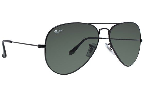 Ray-Ban® RB3025 58 Aviator Large Polarized Sunglasses - Gray