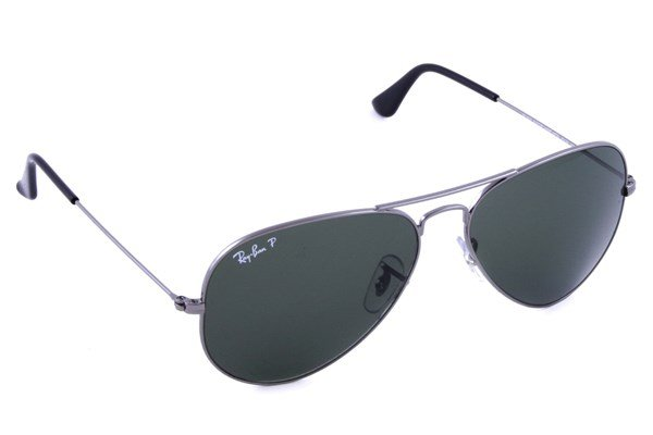 Ray-Ban® RB3025 58 Aviator Large Polarized Sunglasses - Gray