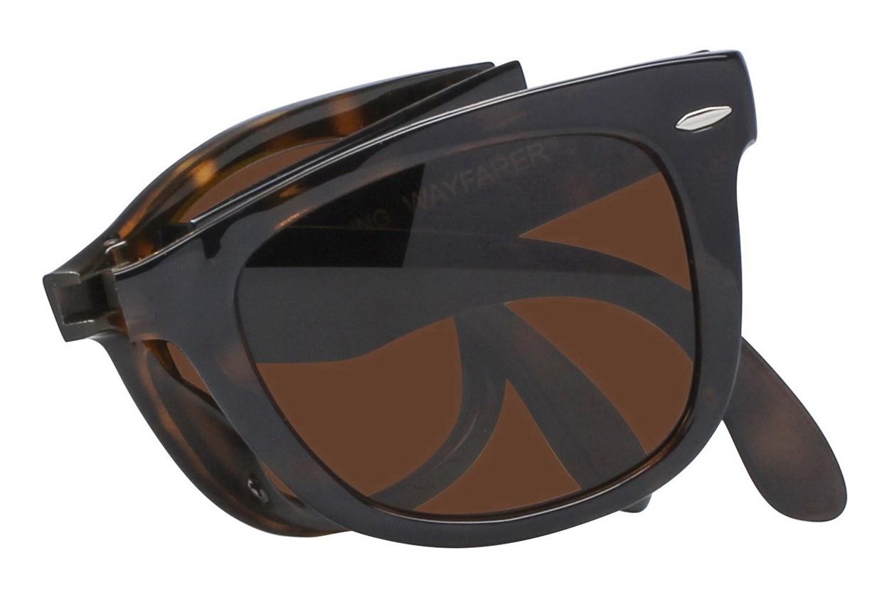 Alternate Image 1 - Ray-Ban® RB 4105 50 Folding Wayfarer Sunglasses - Tortoise