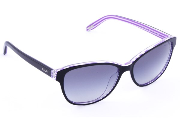 Ralph by Ralph Lauren RA5128 Black with Purple Stripes Sunglasses - Black