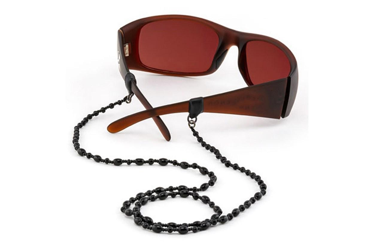 Croakies Czech Glass Tite End Eyeglasses Cord GlassesChainsStraps - Black