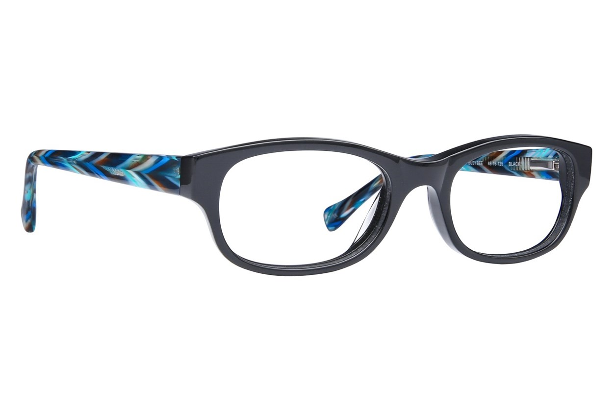 Lucky Busy Bee Eyeglasses - Black