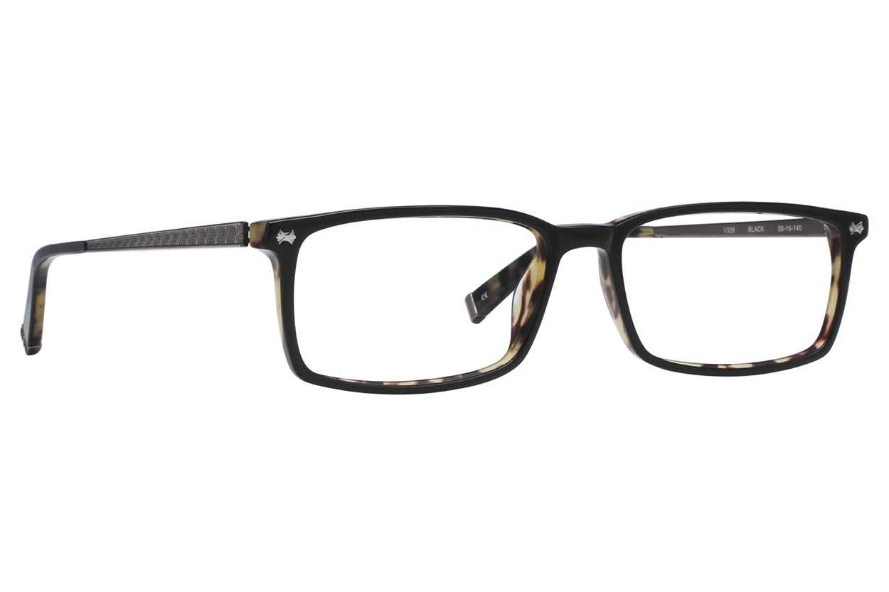 John Varvatos V336 Eyeglasses - Black