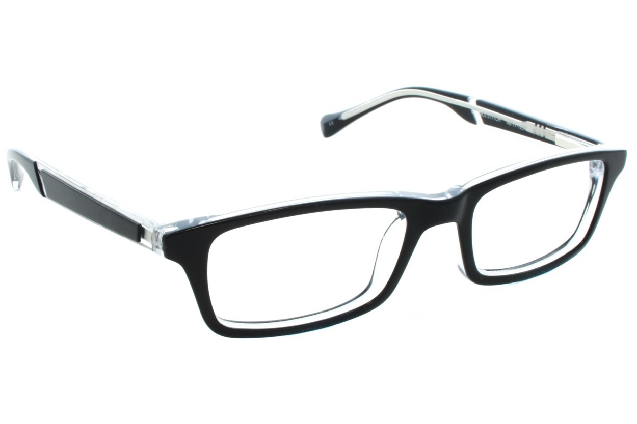Lucky Double Stitch Small Eyeglasses - Black