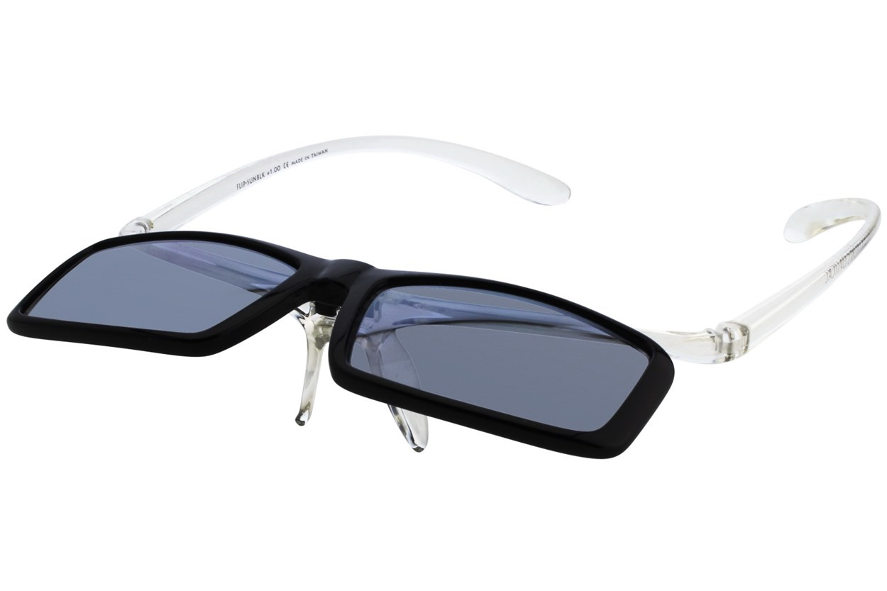 Alternate Image 1 - I Heart Eyewear Flip-Up Reading Sunglasses ReadingGlasses - Black