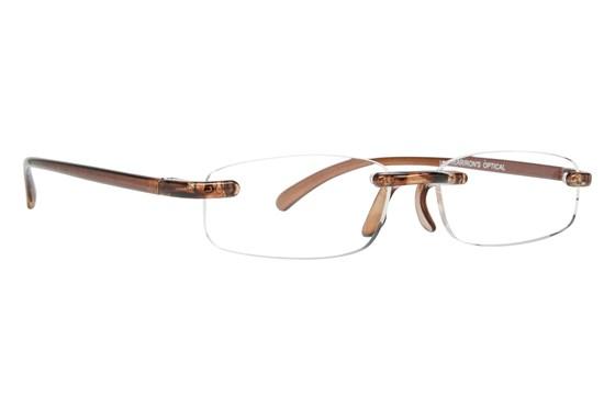 I Heart Eyewear Twisted Specs ReadingGlasses - Brown