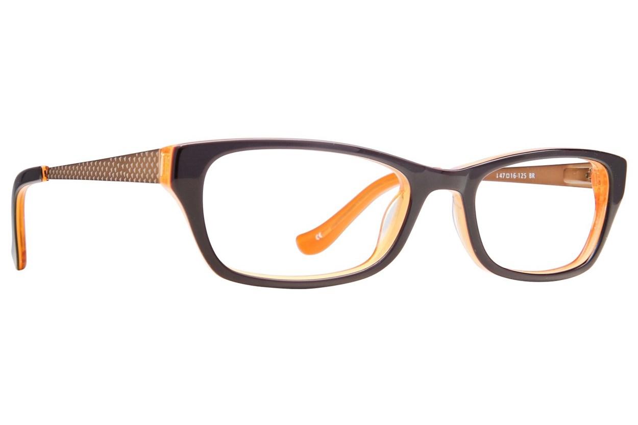 Kensie Girl Painter Eyeglasses - Brown