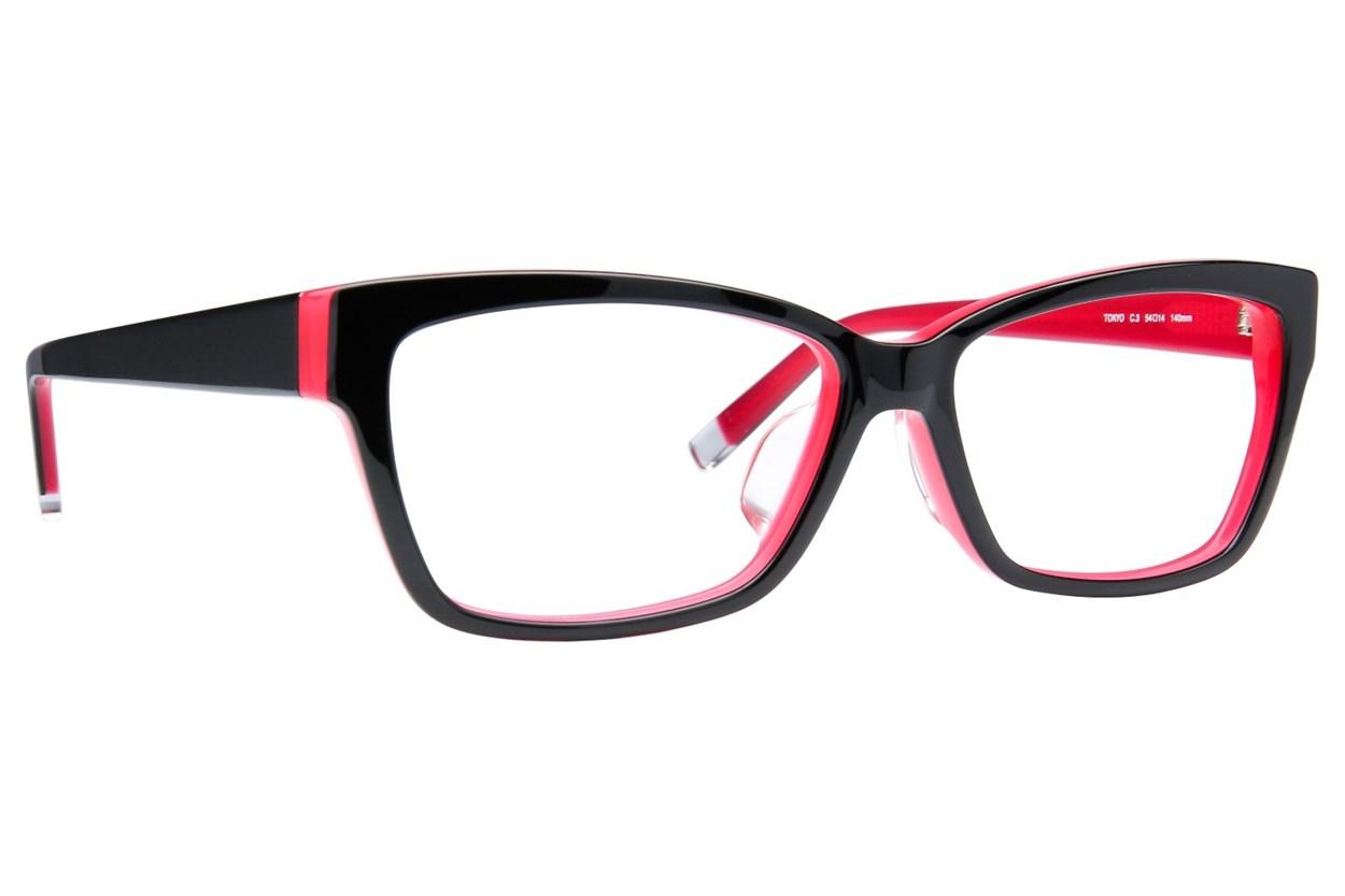 TC-Fit Tokyo Eyeglasses - Black