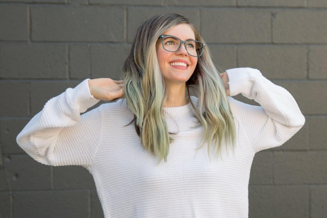 Alternate Image 1 - Lunettos Skyler Eyeglasses - Gray