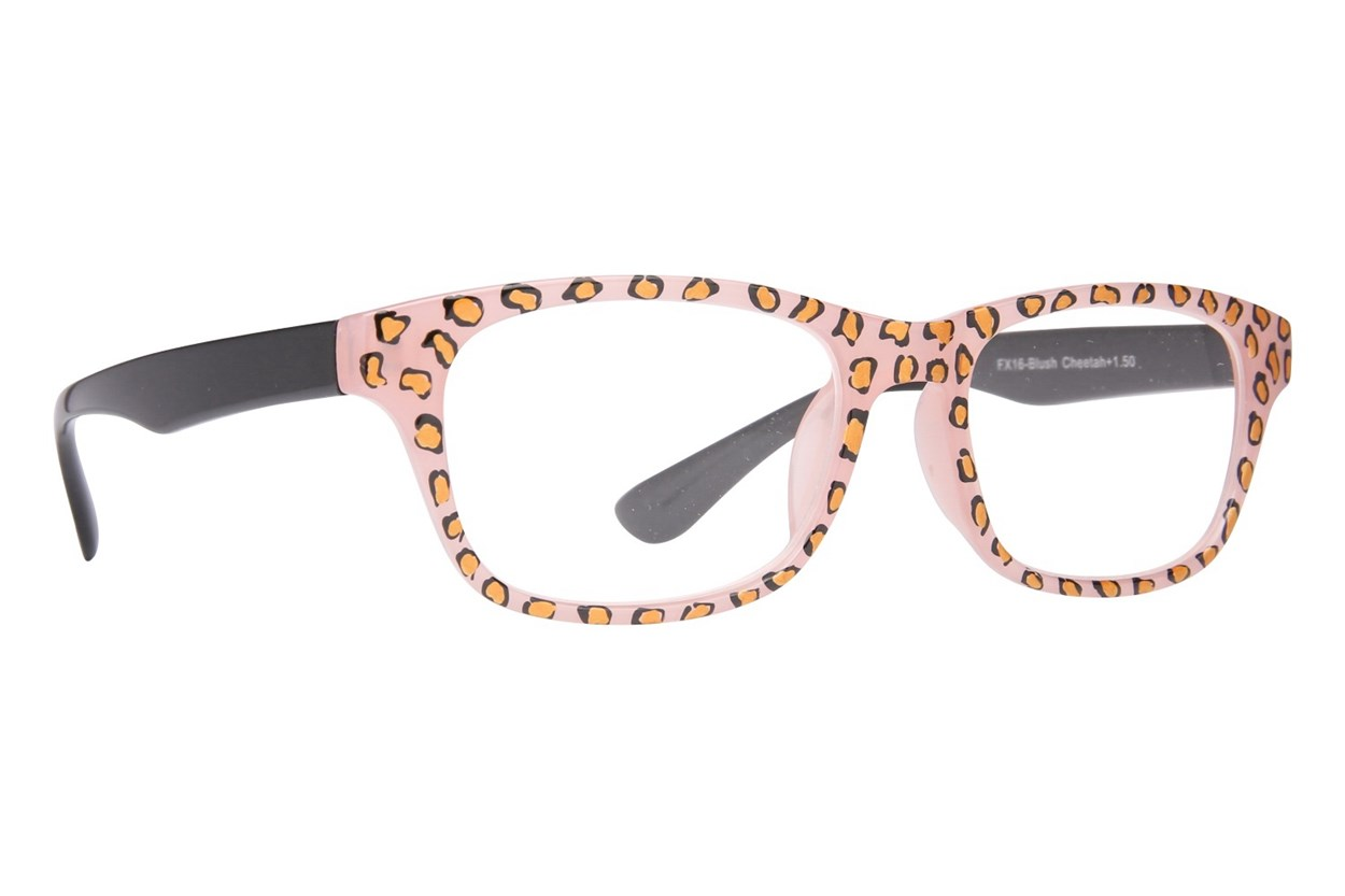 Evolutioneyes Handpainted Blush Cheetah Reading Glasses  - Tan