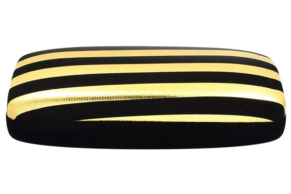 Evolutioneyes Velvet Stripe Eyeglass Case 50 - Black