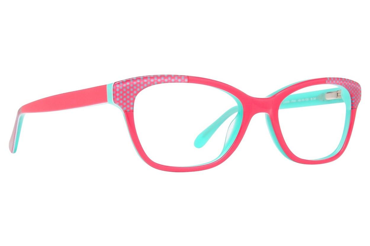 Lulu Guinness LK009 Eyeglasses - Pink
