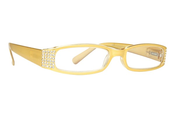 Eye Candy Sophisticated Specs Gold Reading Glasses ReadingGlasses - Gold