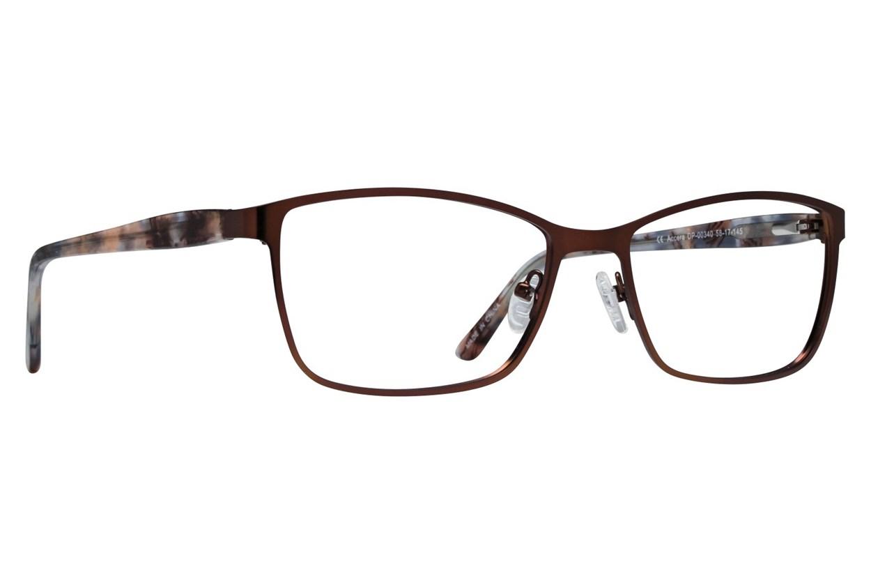 Dea Extended Size Accera Eyeglasses - Brown