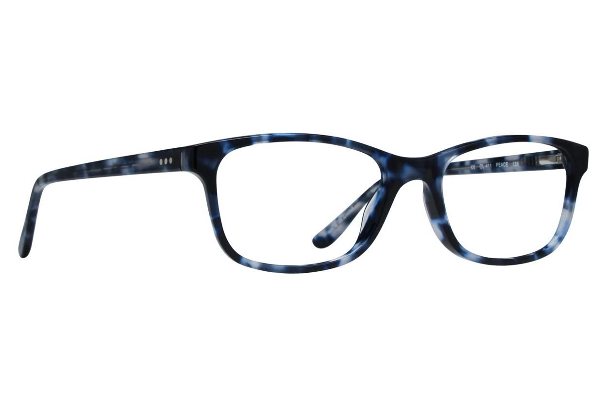 One Love Petite Peace Eyeglasses - Blue
