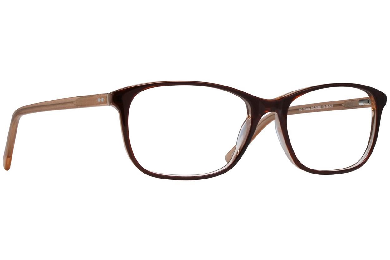 Dea Extended Size Trieste Eyeglasses - Brown